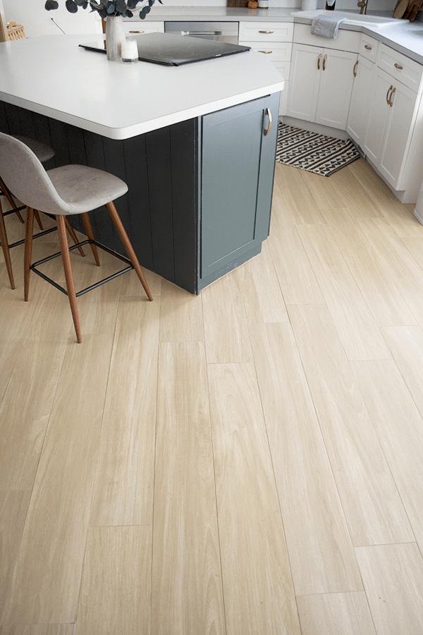 our new wood look tile floors brepurposed