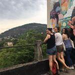 Petite pause pour admirer un point de vue de Santa Teresa