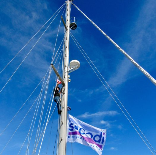 Stepping up the mast