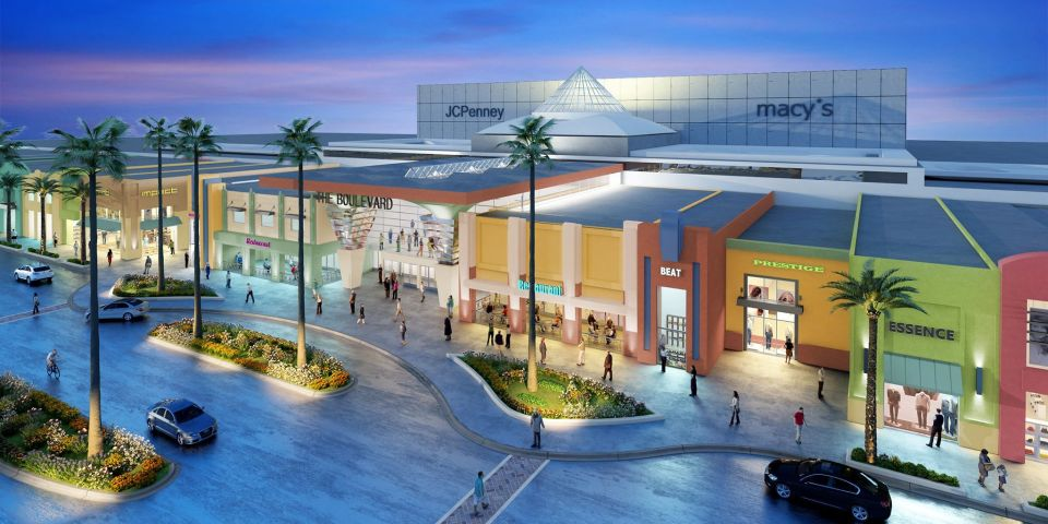 Boulevard Mall Facade Remodel Rendering from SCA Design