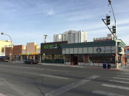 Front facade view along Carson Avenue