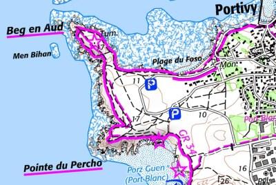 Halbinsel Quiberon Karte