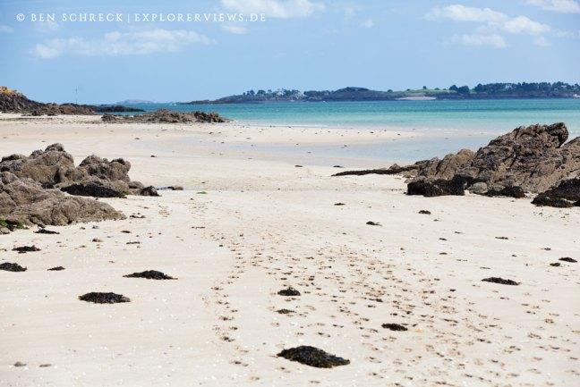 Sandstrand Hebihens Bretagne Reiseziele