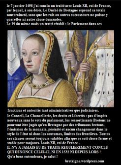 Anne de Bretagne 1499 - élection Bretonne -2016 - Parlement de Bretagne - Parlement Breton
