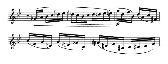 from Debussy Première rhapsodie