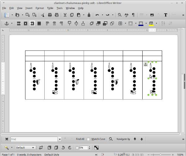 Creating fingering charts with diagrams from the Fingering Diagram ...