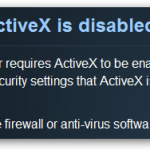 ActiveX is disabled