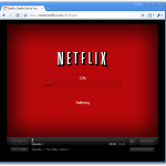 Screenshot of netflix loading in Chrome