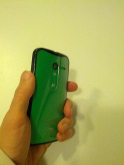 Moto X with Case in Hand