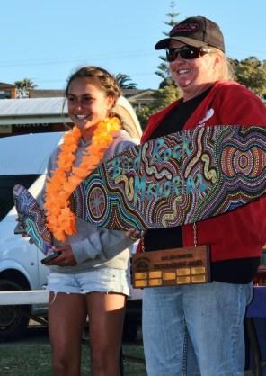 Gracie Monaghan Winner of the Mid North Coast Girls Surfing Award