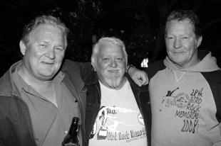 Friday Night Memorial (Left to Right) Michael Riordan, Garry White and Brian Jones.