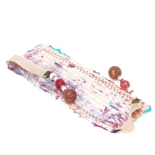 bookmark_original_artwork_silk_hand_dyed_ribbon_gemstone_crystal_rose_quartz_rhinestone_front