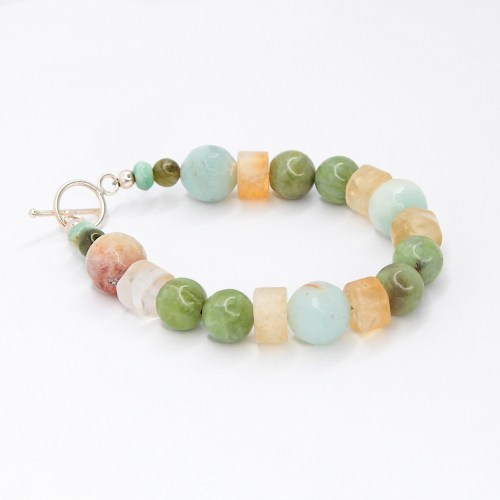 bullying-abuse-hope-green-calcite-amazonite-citrine-gemstone-bracelet