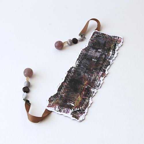 handmade gemstone bookmark
