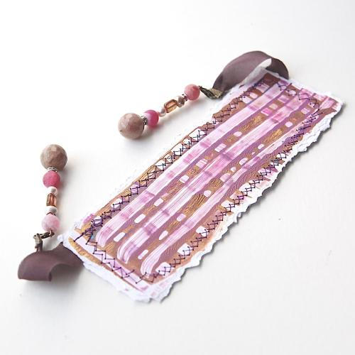 Gemstone handpainted bookmark