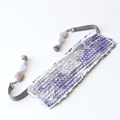 handpainted gemstone bookmark