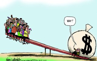 Rich vs poor wealth see saw