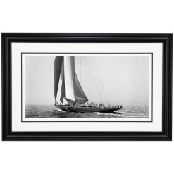 Black and white, silver gelatin photograph of sailing yacht Endeavour sailing at sea. This stunning photograph was taken by Frank Beken in 1934. Photograph was scanned from original glass plate negative. Available to purchase from Brett Gallery. Beken of Cowes Framed Prints, Beken of Cowes archives, Beken of Cowes Prints, Beken Archive, Cowes Week old Photographs, Beken Prints, Frank beken of Cowes.