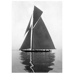 Unframed Black and White, Silver Gelatin, Limited edition Photograph of sailing yacht Shamrock 4. Taken by a famous marine photographer Frank Beken in 1914. This photograph was scanned from original glass plate negatives and developed in the dark room as they used to do it period. Available to purchase in deferent sizes from Brett Gallery. Beken of Cowes Framed Prints, Beken of Cowes archives, Beken of Cowes Prints, Beken Archive, Cowes Week old Photographs, Beken Prints, Frank beken of Cowes.