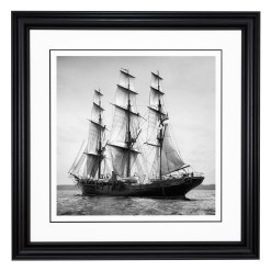 Framed Limited edition, Silver Gelatin, Black and White Photograph of sailing boat Valhalla sailing at sea. Taken by a talented marine photographer Alfred John West in 1899. Available to purchase in various sizes from the Brett Gallery. This picture was developed in the darkroom and scanned from original glass plat negative from period. Beken of Cowes Framed Prints, Beken of Cowes archives, Beken of Cowes Prints, Beken Archive, Cowes Week old Photographs, Beken Prints, Frank beken of Cowes.