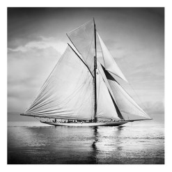 Unframed Black and White, Silver Gelatin, Limited edition Photograph of sailing yacht Valkyrie 3 sailing at sea. Taken by a talented marine photographer Alfred John West in 1895. This photograph was scanned from original glass plate negatives and developed in the dark room as they used to do it period. Available to purchase in deferent sizes from Brett Gallery. Beken of Cowes Framed Prints, Beken of Cowes archives, Beken of Cowes Prints, Beken Archive, Cowes Week old Photographs, Beken Prints, Frank beken of Cowes.