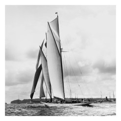 Unframed Black and White, Silver Gelatin, Limited edition Photograph of sailing yacht Westward sailing at sea. Taken by a famous marine photographer Frank Beken in 1920. This photograph was scanned from original glass plate negatives and developed in the dark room as they used to do it period. Available to purchase in deferent sizes from Brett Gallery. Beken of Cowes Framed Prints, Beken of Cowes archives, Beken of Cowes Prints, Beken Archive, Cowes Week old Photographs, Beken Prints, Frank beken of Cowes.
