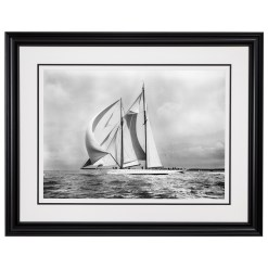 Framed Limited edition, Silver Gelatin, Black and White Photograph of sailing boat Westward sailing at sea with full sails of air. Taken by a famous marine photographer Frank Beken in 1930. Available to purchase in various sizes from the Brett Gallery. This picture was developed in the darkroom and scanned from original glass plat negative from period. Beken of Cowes Framed Prints, Beken of Cowes archives, Beken of Cowes Prints, Beken Archive, Cowes Week old Photographs, Beken Prints, Frank beken of Cowes.