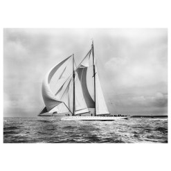 Unframed Black and White, Silver Gelatin, Limited edition Photograph of sailing yacht Westward sailing at sea with full sails of air. Taken by a famous marine photographer Frank Beken in 1930. This photograph was scanned from original glass plate negatives and developed in the dark room as they used to do it period. Available to purchase in deferent sizes from Brett Gallery. Beken of Cowes Framed Prints, Beken of Cowes archives, Beken of Cowes Prints, Beken Archive, Cowes Week old Photographs, Beken Prints, Frank beken of Cowes.