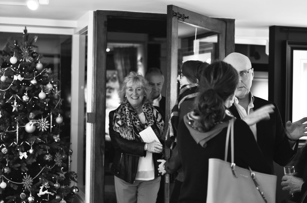 Guests arriving at the Brett gallery opening night Midhurst West Sussex