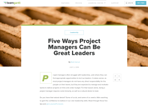 TeamGantt Blog Project Management Leadership