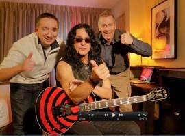 With Eddie Ojeda (Guitarist Twisted Sister)