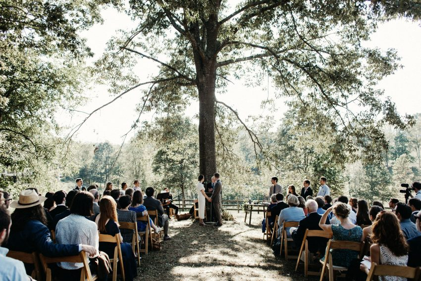 outdoor asheville wedding