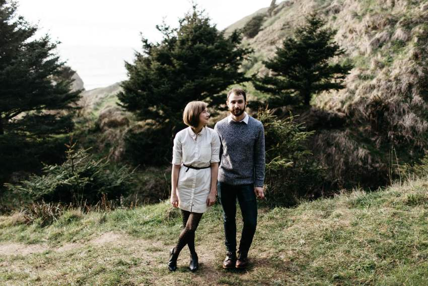 hipster portland engagement photos