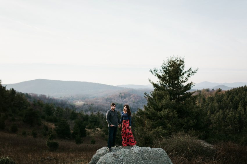 engagement photos boone mountains