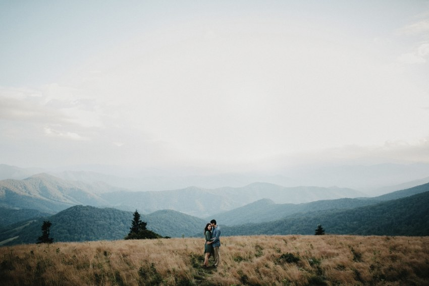 roan mountain engagement shoot