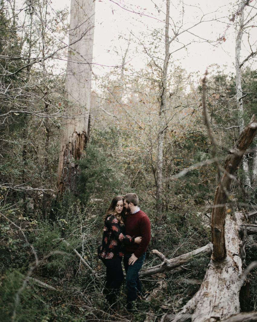 raleigh outdoorsy engagement session