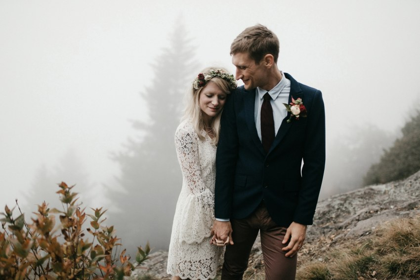 black balsam knob elopement photos