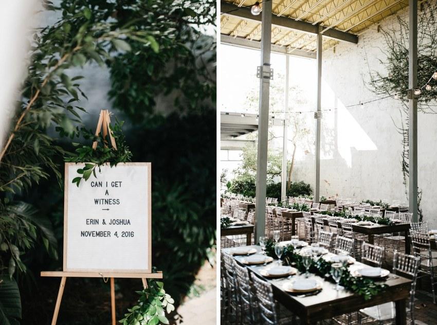 the atrium by ligon flynn wedding