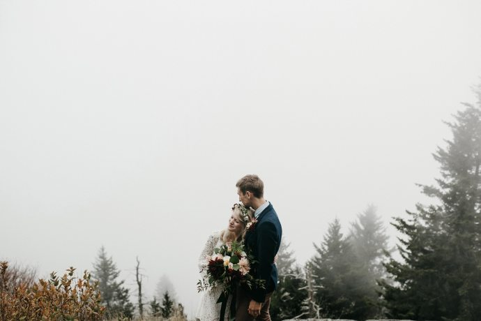 intimate asheville mountain elopement