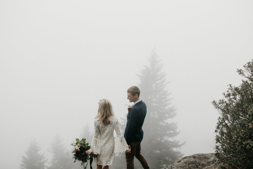 western North Carolina mountain elopement