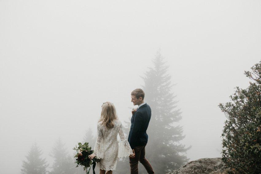 western North Carolina mountain elopement