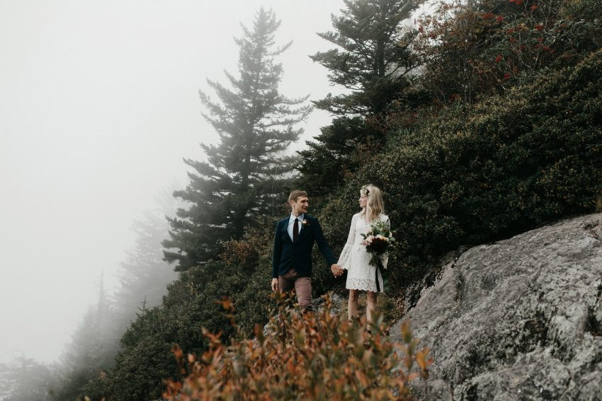 adventure asheville mountain elopement