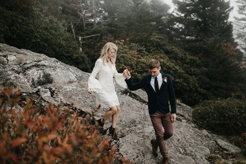 adventurous asheville mountain elopement