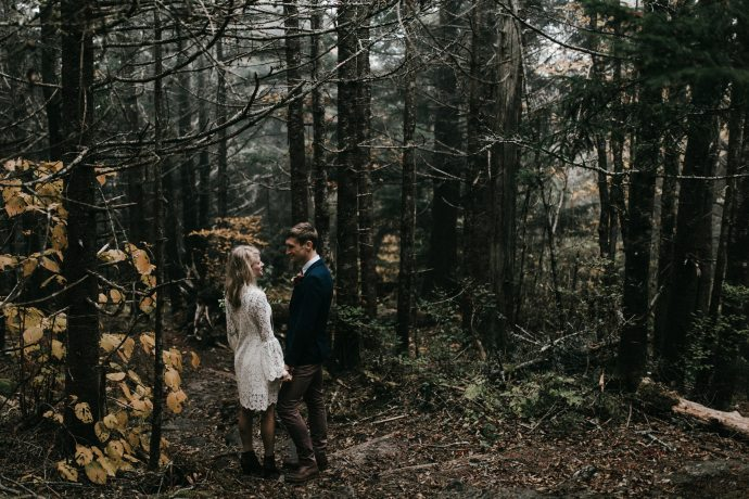 hiking asheville mountain elopement