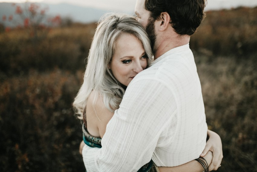 intimate asheville engagement session