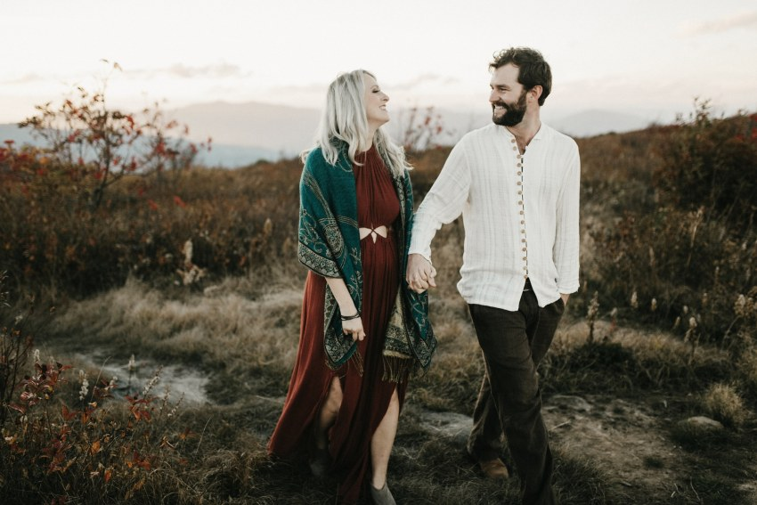 indie asheville mountain engagement