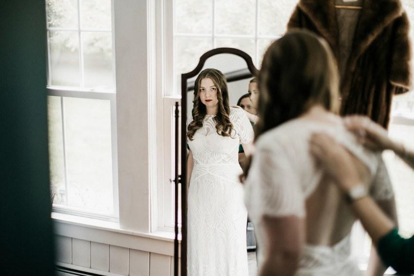bhldn dress Maine wedding