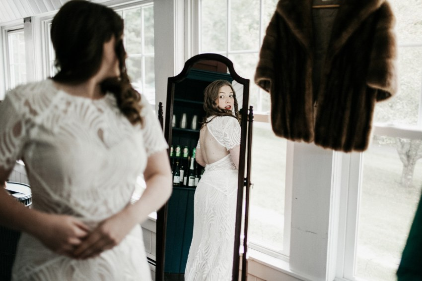 bhldn dress Maine wedding