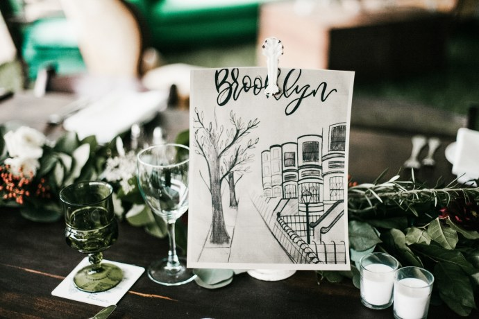 bar harbor maine wedding table ideas
