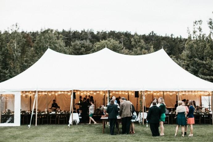 bar harbor maine outdoor wedding